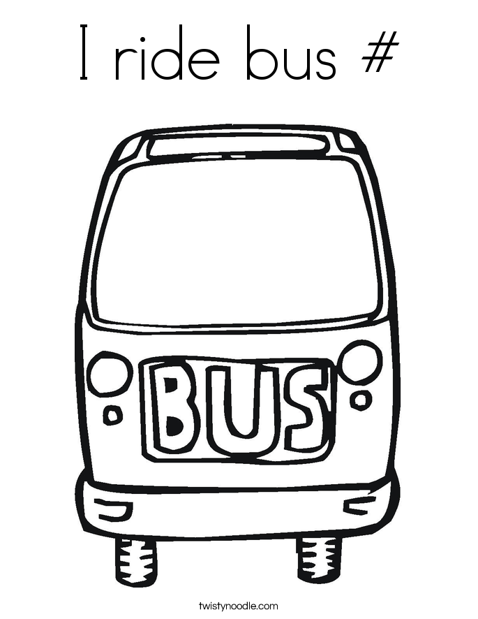 I ride bus # Coloring Page