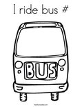 I ride bus #Coloring Page
