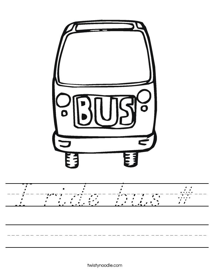 I ride bus # Worksheet