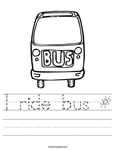 Bus Worksheet