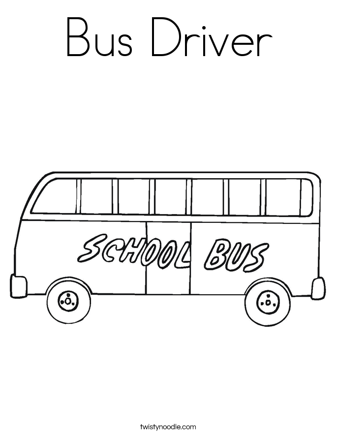 Bus Driver Coloring Page