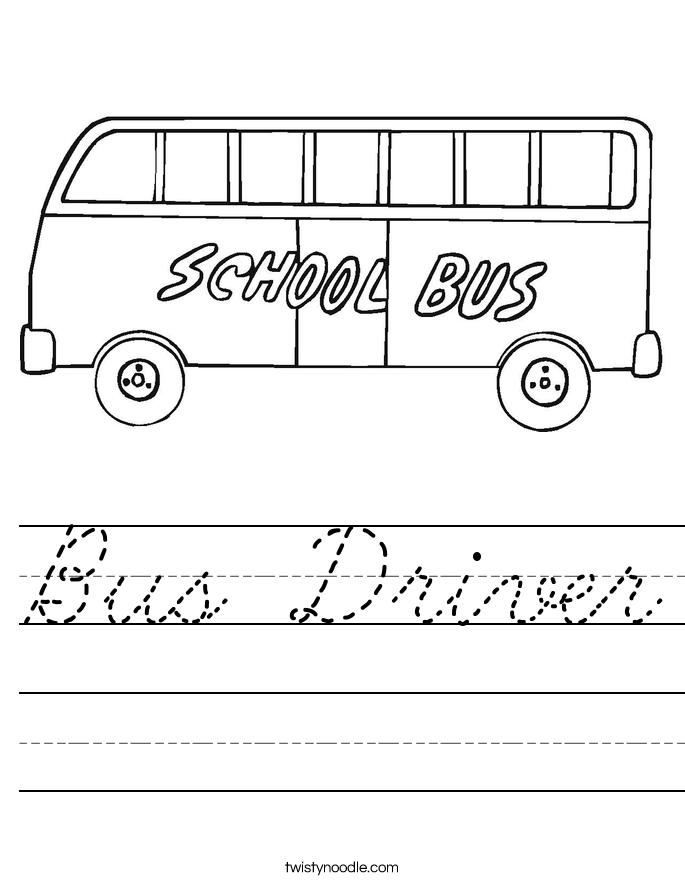 Bus Driver Worksheet
