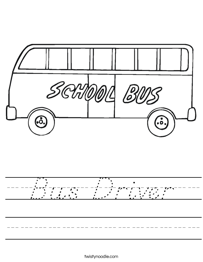 Bus Driver Worksheet