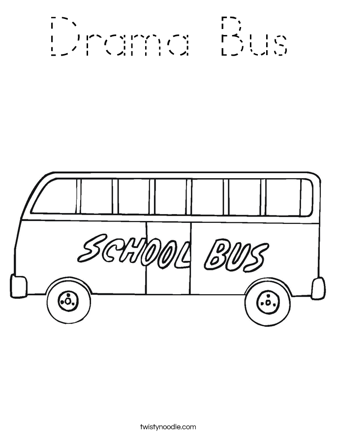 Drama Bus Coloring Page