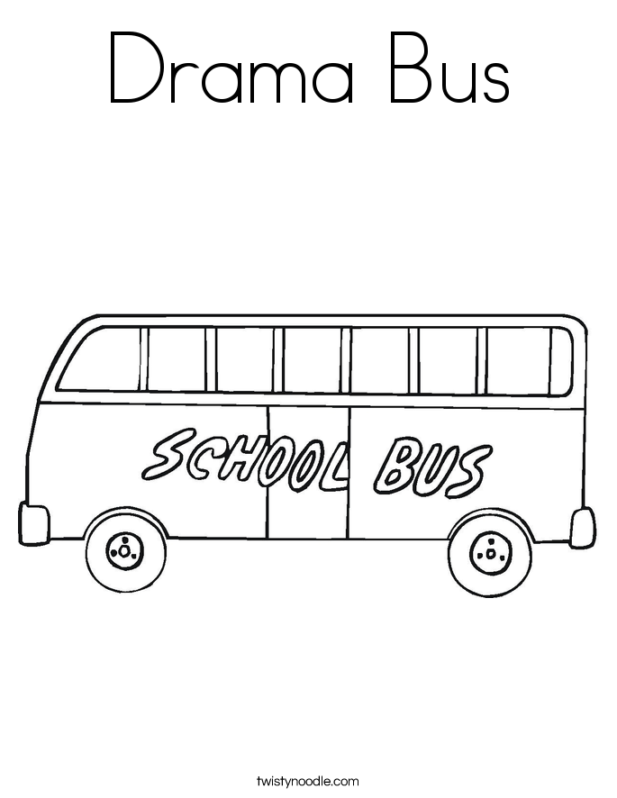 Drama Bus Coloring Page