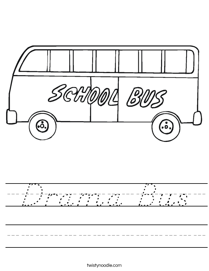 Drama Bus Worksheet