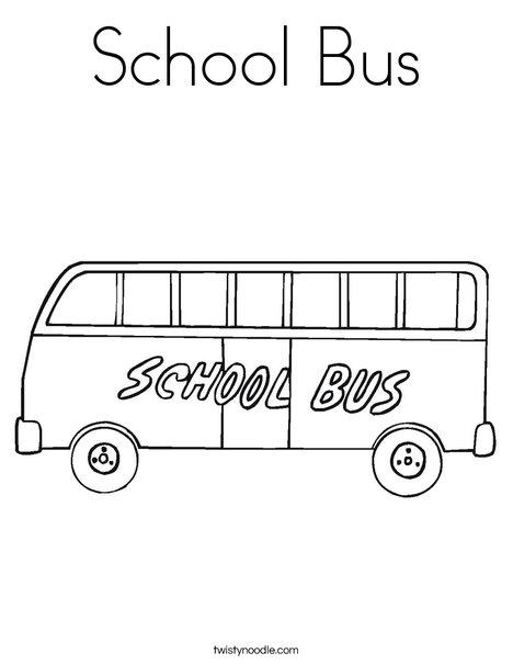 School Bus Coloring Page - Twisty Noodle