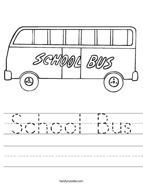 Color the School Bus | Worksheet | Education.com