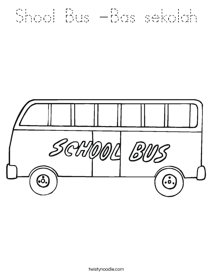 Shool Bus -Bas sekolah Coloring Page