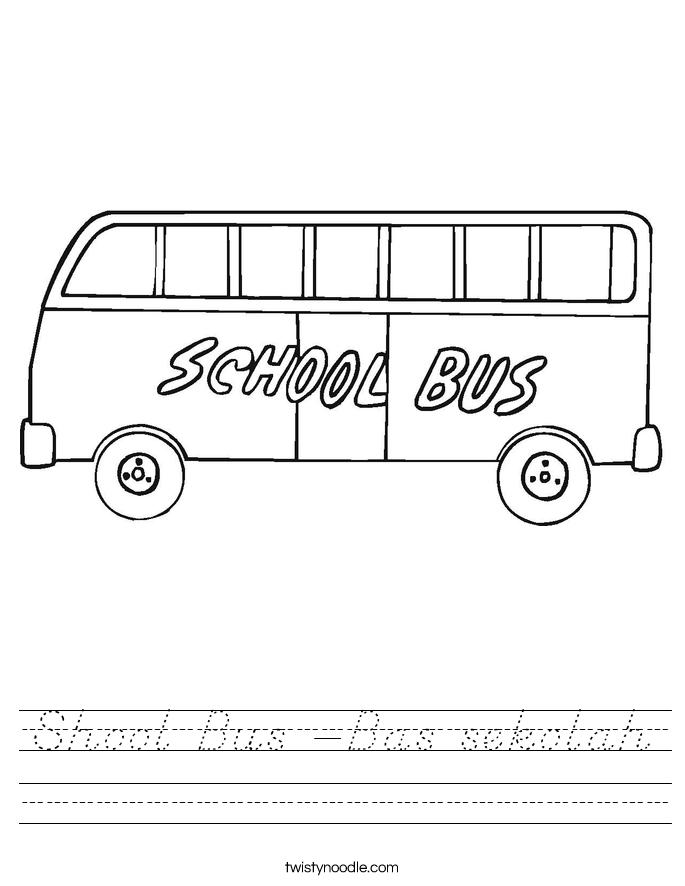 Shool Bus -Bas sekolah Worksheet