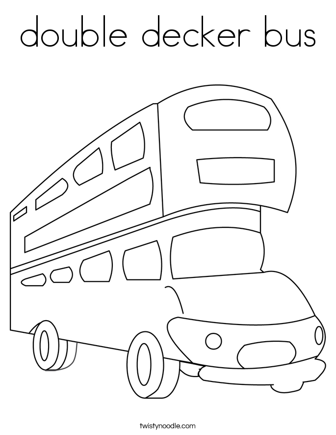 double decker bus Coloring Page