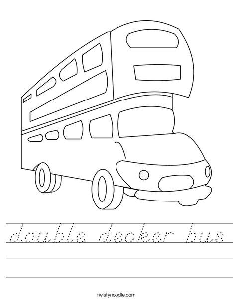 Double Decker Bus Worksheet