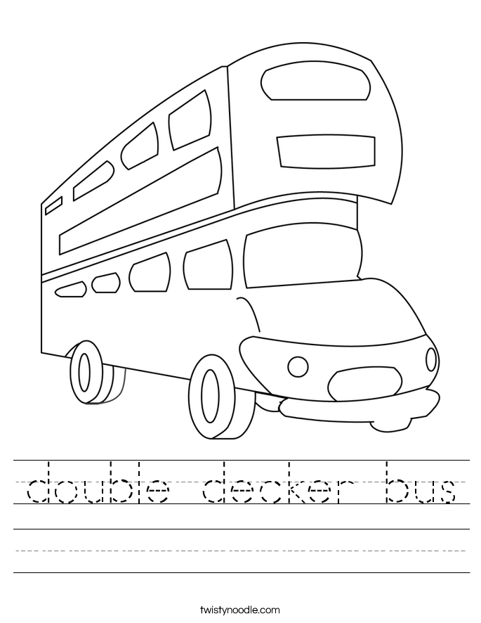 double decker bus Worksheet