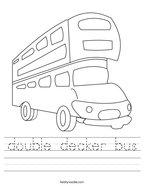 double decker bus Handwriting Sheet