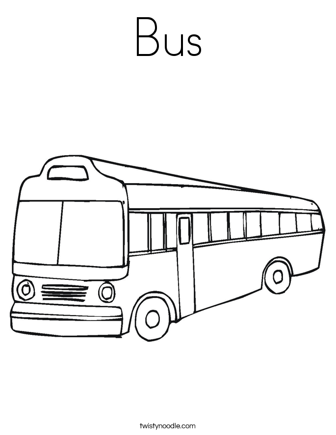 coloring pages bus - photo#16