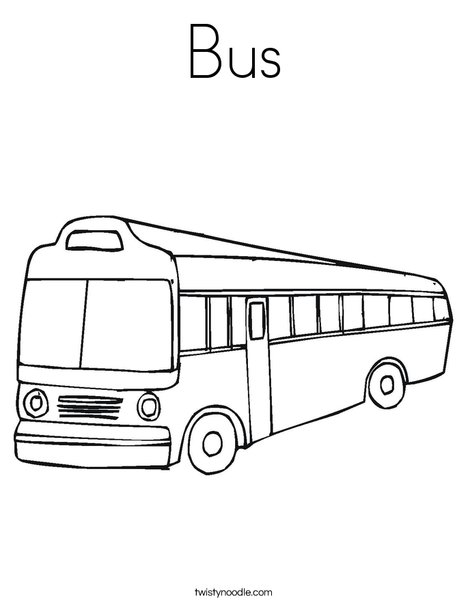 bus coloring pages Bus Coloring Page   Twisty Noodle bus coloring pages