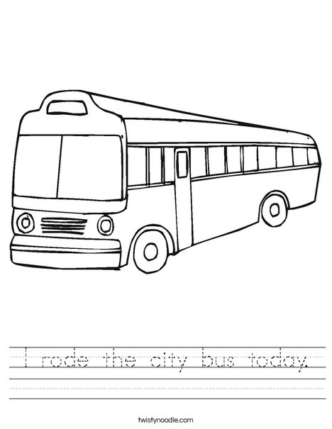 City Bus Worksheet