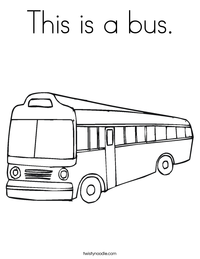 This is a bus. Coloring Page