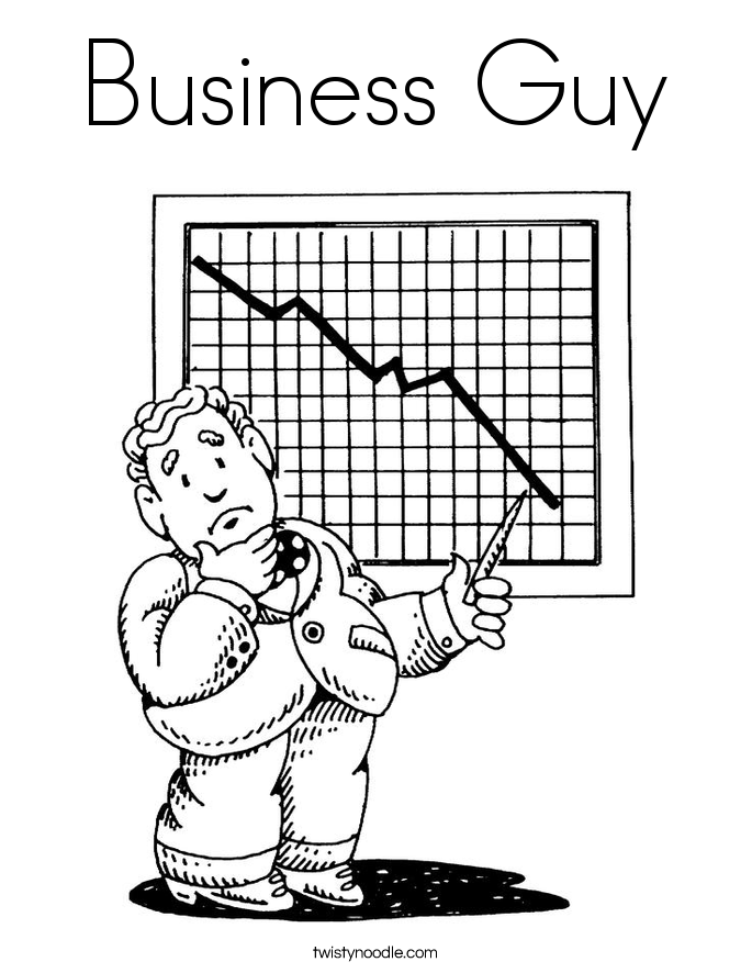 Business Guy Coloring Page