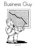 Business GuyColoring Page
