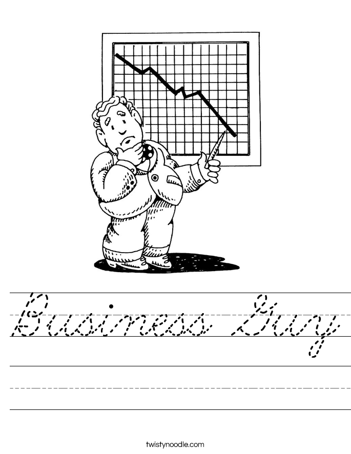 Business Guy Worksheet
