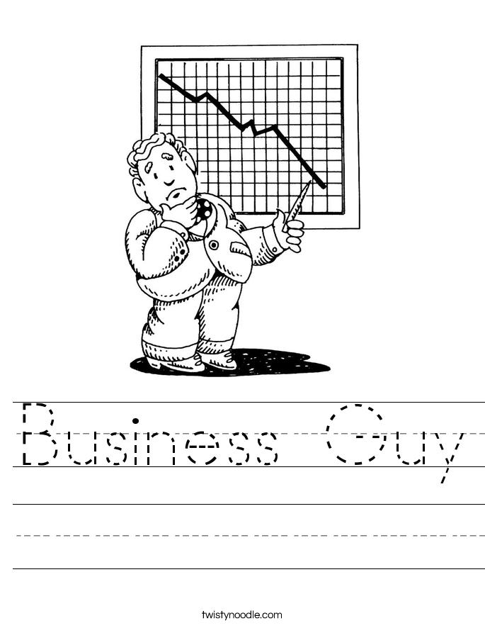 Business Guy Worksheet