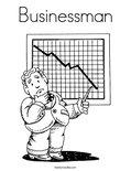 BusinessmanColoring Page