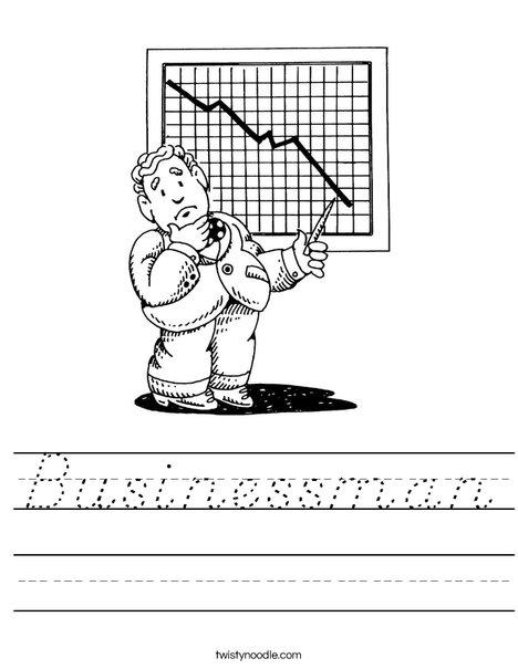 Businessman Worksheet