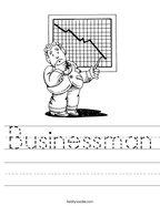 Businessman Handwriting Sheet