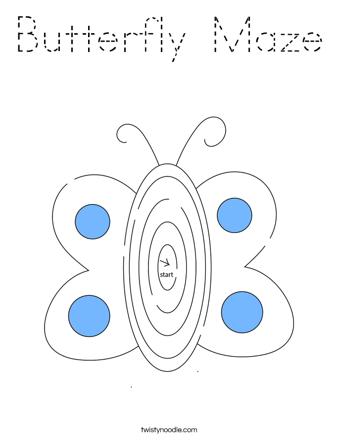 Butterfly Maze Coloring Page