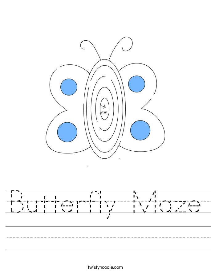 Butterfly Maze Worksheet