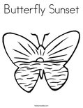 Butterfly SunsetColoring Page