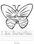 I like Butterflies. Worksheet