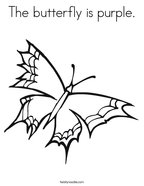 The butterfly is purple Coloring Page