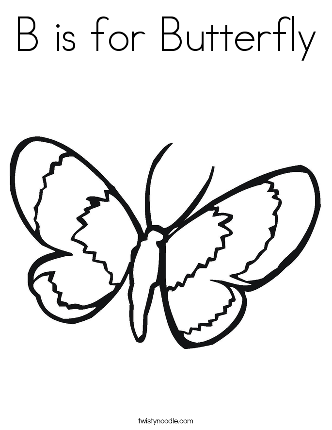 b for butterfly coloring pages - photo#6