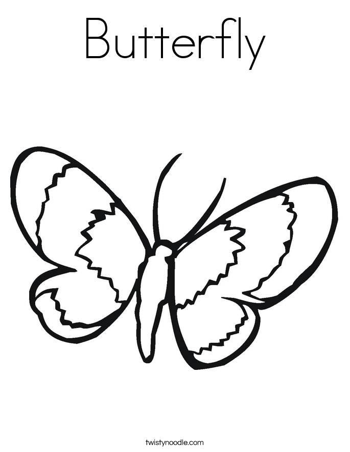 butterfly coloring page - Insect Coloring Pages