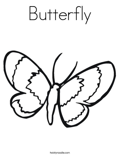 butterfly coloring page twisty noodle