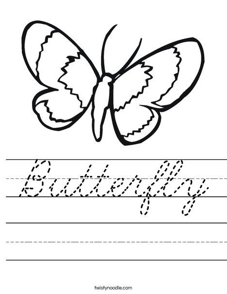 Butterfly Worksheet
