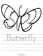 Butterfly Handwriting Sheet