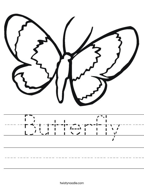 Butterfly Worksheet - Twisty Noodle