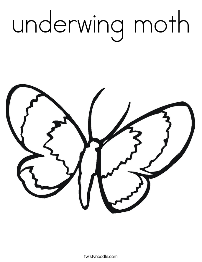 underwing moth Coloring Page