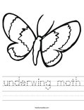 underwing moth Worksheet