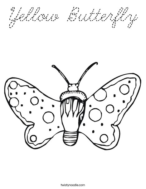 Butterfly with Dots Coloring Page