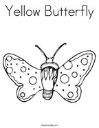 Yellow Butterfly Coloring Page