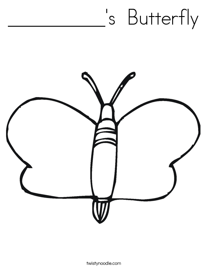 __________'s  Butterfly Coloring Page