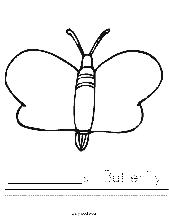__________'s  Butterfly Worksheet