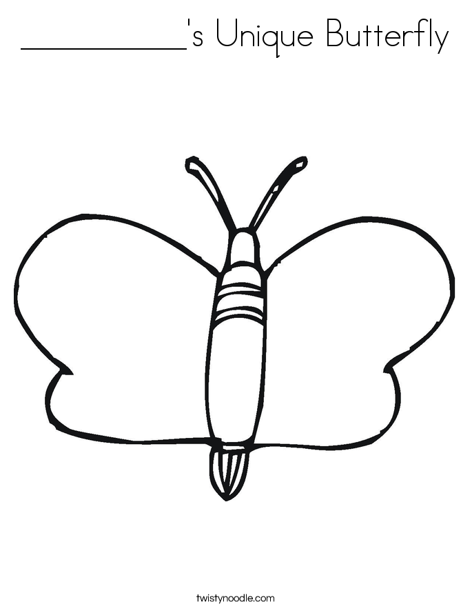 __________'s Unique Butterfly Coloring Page