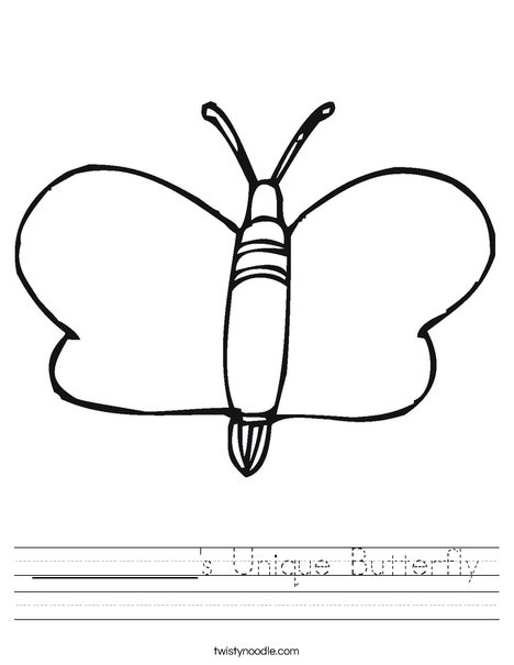Mariposa Worksheet