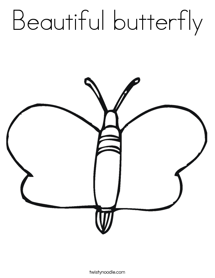 Beautiful butterfly coloring page twisty noodle for Beautiful butterfly coloring pages