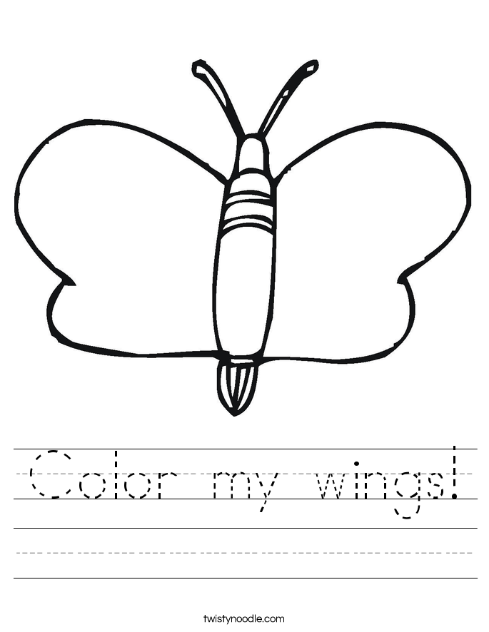 Color my wings! Worksheet